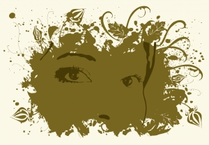 woman's face vector